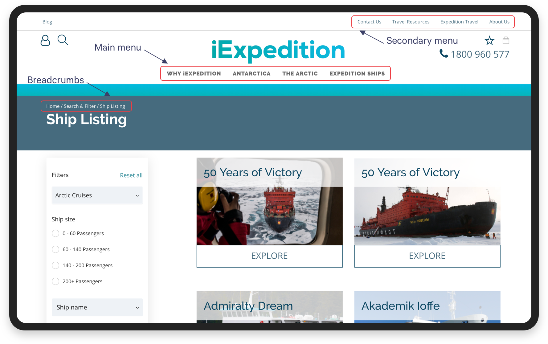How to Create a User-Friendly Website: Easy navigation for IExpedition | Codica