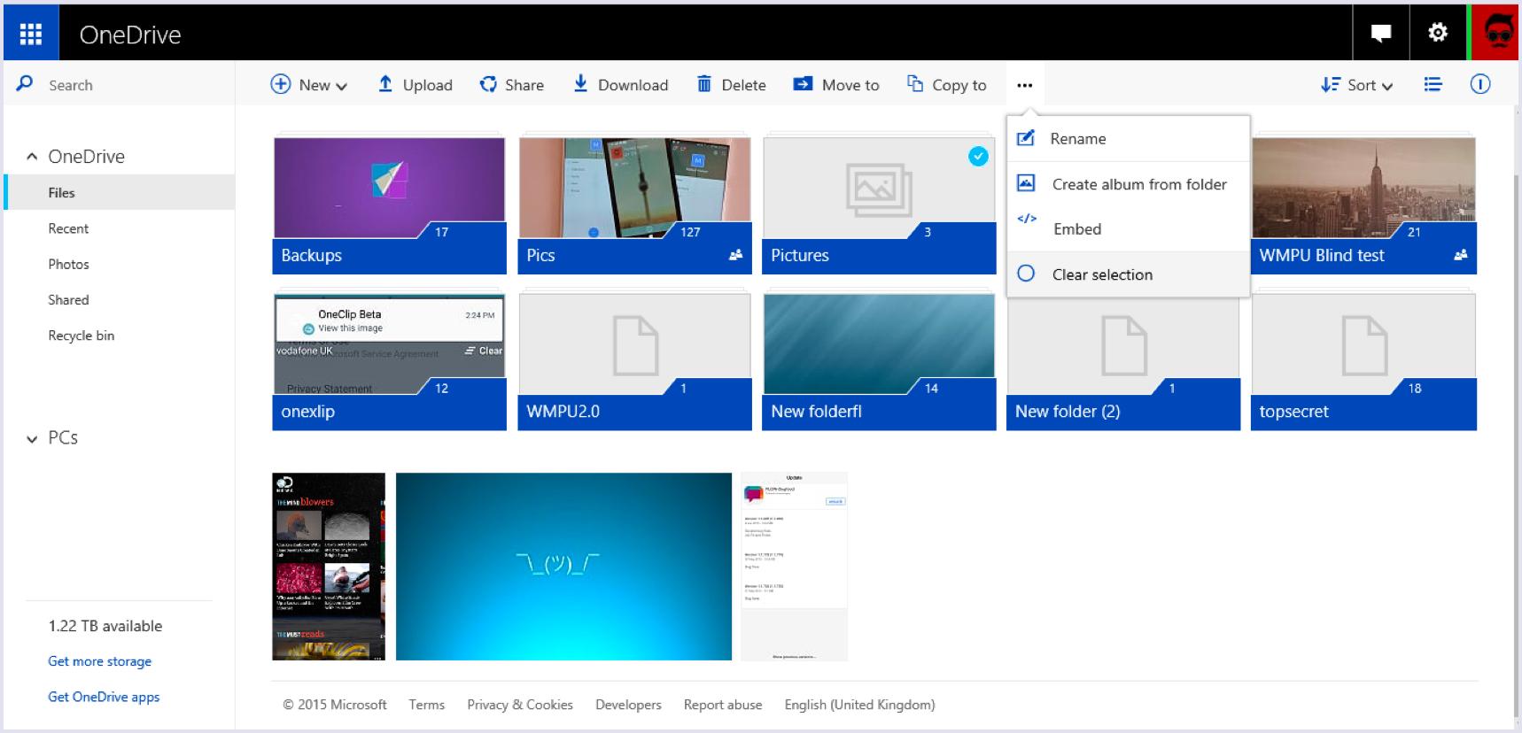 MS (Microsoft) One Drive screenshot on desktop   Codica