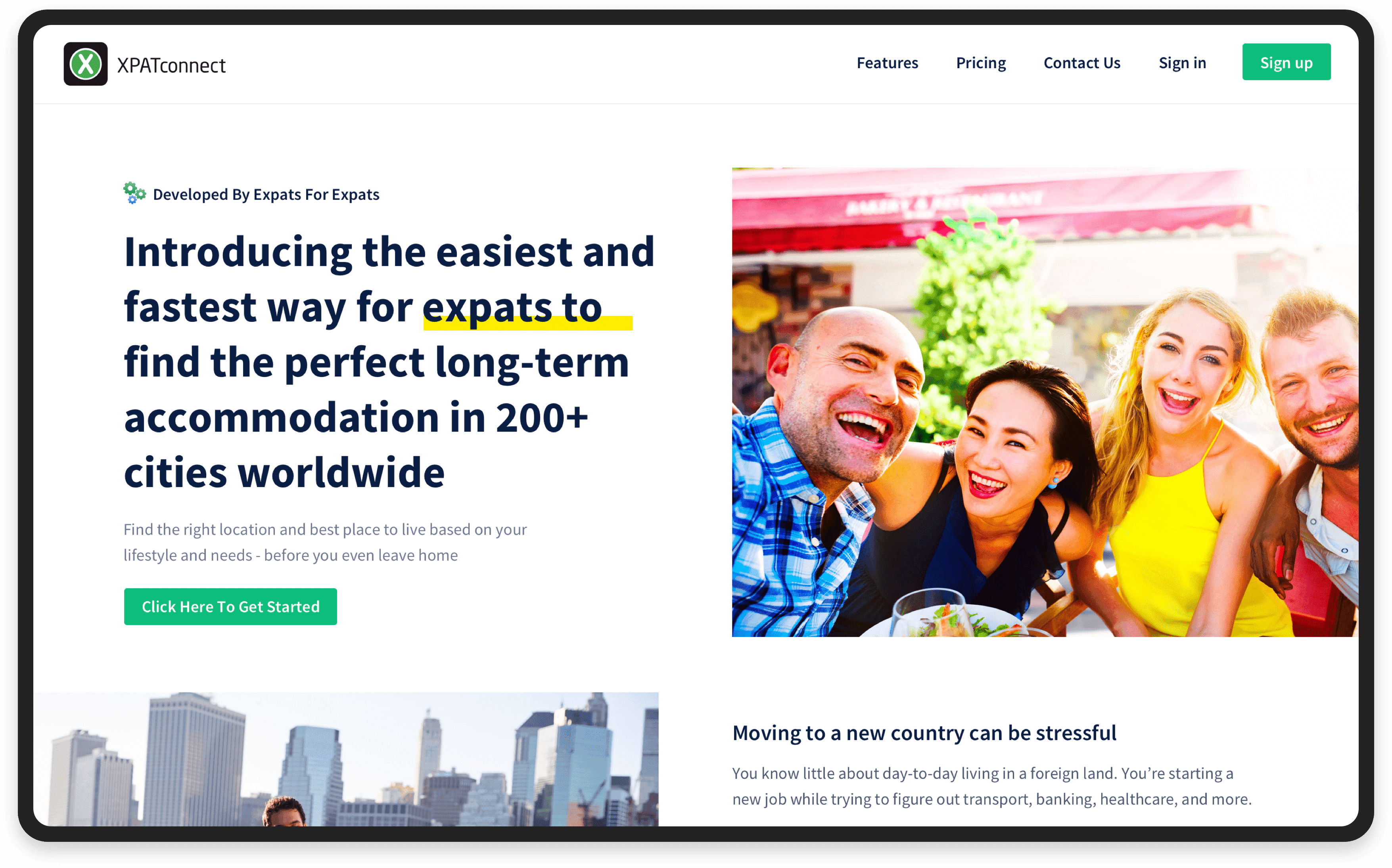 MVP for accommodation search platform: Home page   Codica
