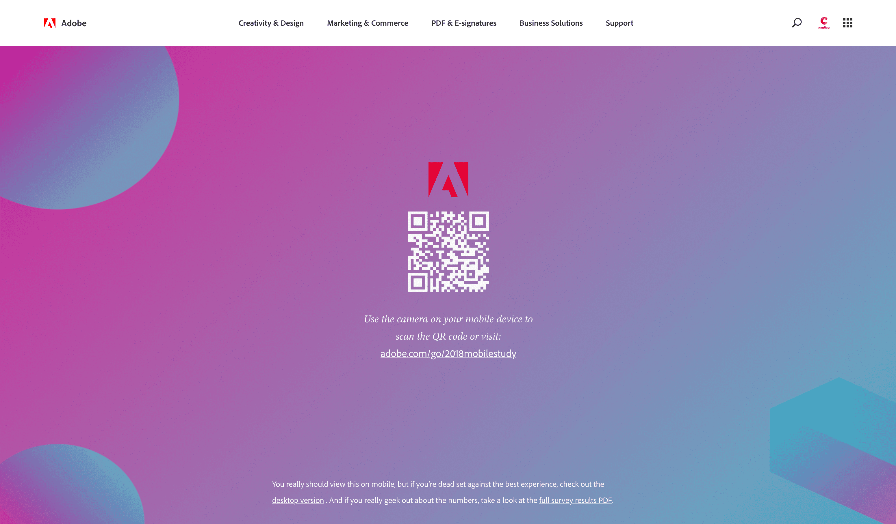 Hot web design trends: Mobile-first design, Adobe | Codica