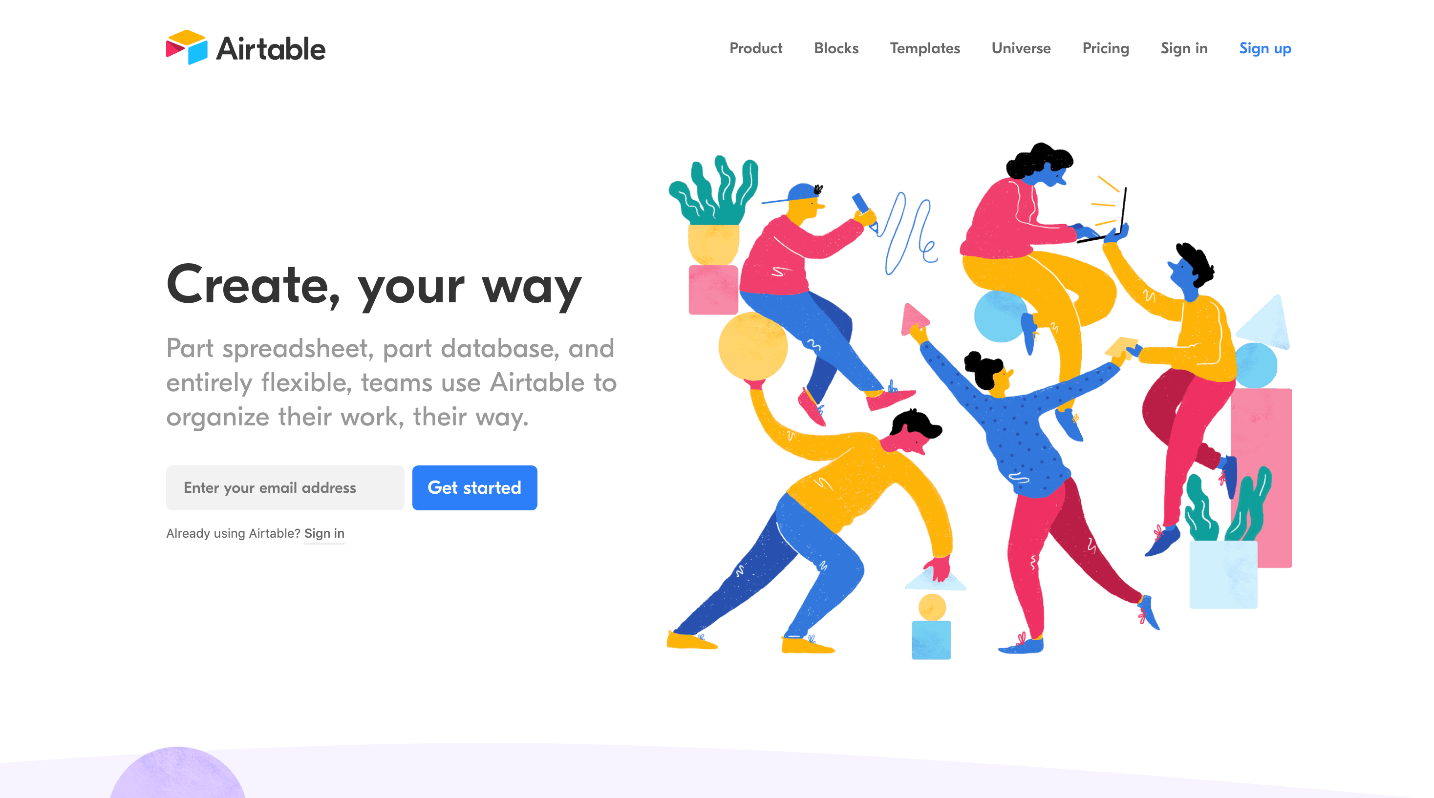 Hot web design trends: Personalized illustration, Airtable | Codica