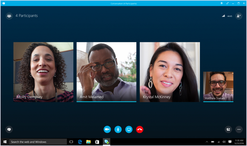 Skype call screenshot | Codica