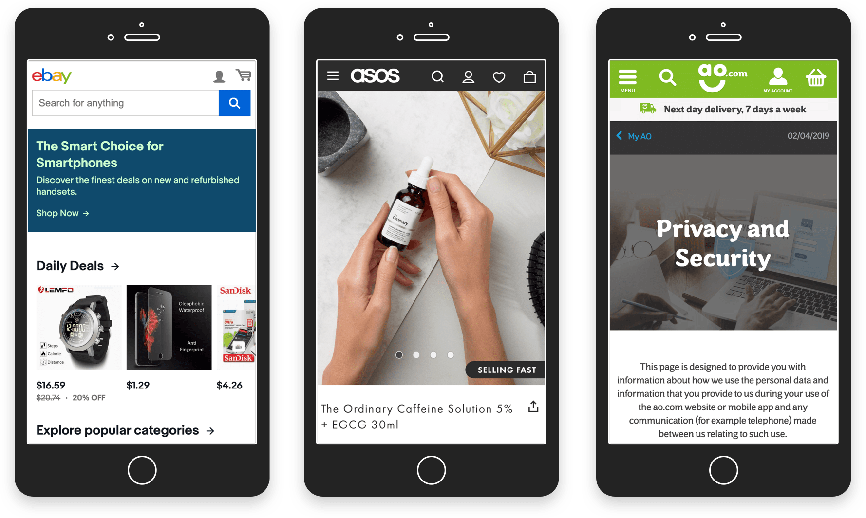 Marketplaces UX: Make your platform mobile-friendly. Examples of Ebay, Asos, ao.com | Codica